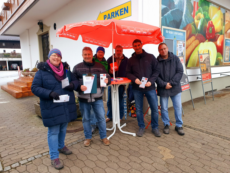 Informationsstand der SPD zur Kommunalwahl